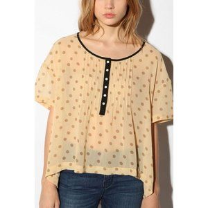 Kimchi Blue Urban Outfitters Chiffon Cape Top Med